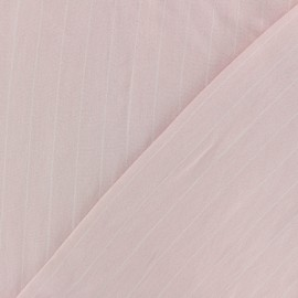 Striped Viscose fabric - light pink Gabrielle x 10cm