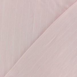 Tissu Viscose rayé Gabrielle - rose x 10cm