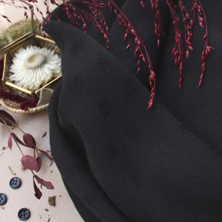Tissu viscose Atelier Brunette - Diamond Black x 10cm