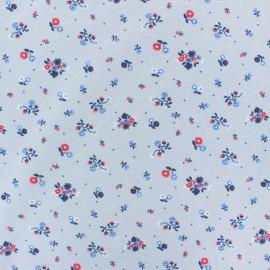 Tissu jersey Jardin de Dorothée - bleu ciel x 10cm