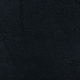 Plain Towel fabric - Midnight blue x 10cm