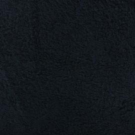 Tissu éponge uni - bleu de minuit x 10cm