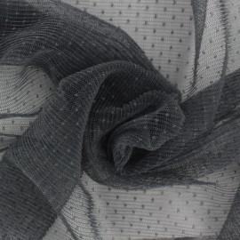 Tulle plissé Point d'esprit Dorine - gris x10cm