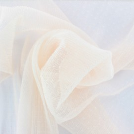 Point d'esprit Pleated Tulle fabric - powder pink Dorine x 10cm