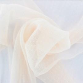 Tulle plissé Point d'esprit Dorine - rose poudré x 10cm