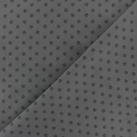Poplin Cotton fabric - grey Fleuretta x 10cm