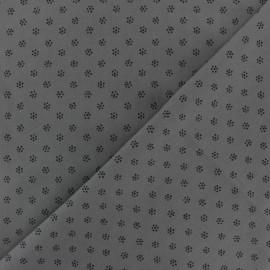 Tissu coton popeline Fleuretta - gris x 10cm