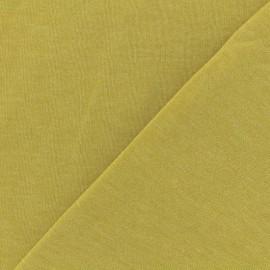 Tissu sweat léger chiné - Jaune x 10cm