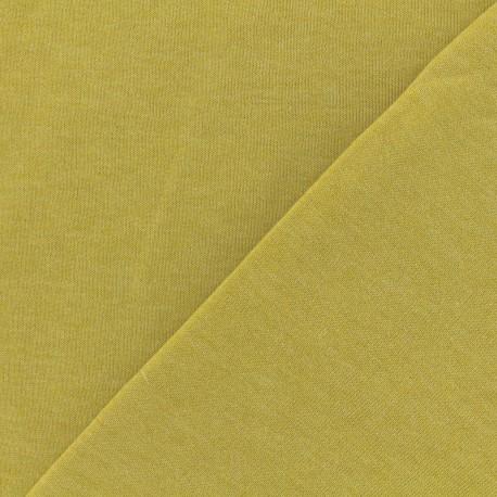 Tissu Oeko-Tex sweat léger chiné - anis x 10cm