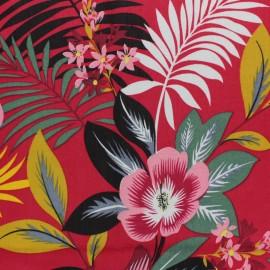 Tissu rayonne Honolulu - rouge x 20cm