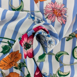 ♥ Coupon 20 cm X 140 cm ♥ Rayon fabric - light blue Dolce Vita