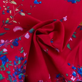 Rayon fabric - Red King's Garden x 50cm