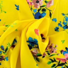 Rayon fabric - white King's Garden x 50cm