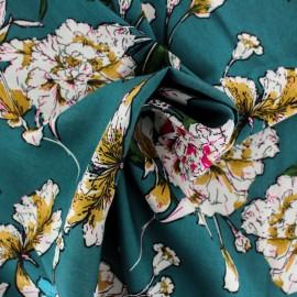 Rayon fabric - blue Satay x 20cm
