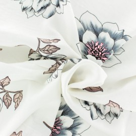 Rayon fabric - navy blue Sao Tomé x 20cm