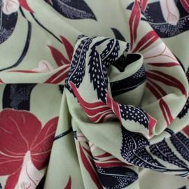 Rayon fabric - Sauge green Kinshasa x 30cm