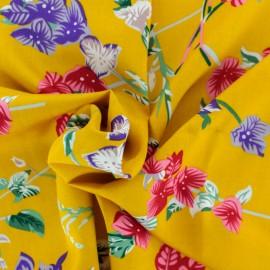 Tissu rayonne Belleville - jaune moutarde x 20cm