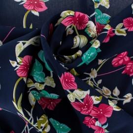 Rayon fabric - Navy blue Belleville x 20cm