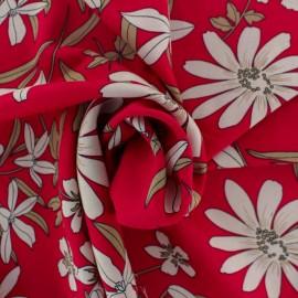 Rayon fabric - red Blandine x 20cm