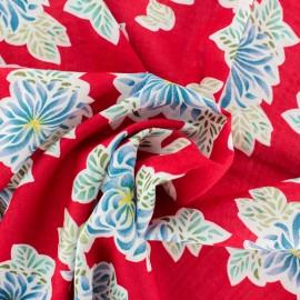 Rayon fabric - red Blandine