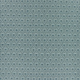 Tissu coton cretonne enduit Saki - gris orage x 10cm