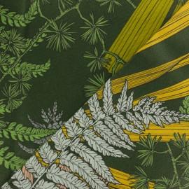 Tissu toile coton enduit Cèdre - vert sapin x 45cm