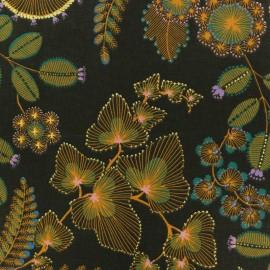 Tissu toile coton Phoenix - vert sapin  x 50cm