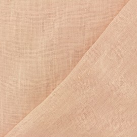 Tissu lin lavé Thevenon - rose dragée x 10cm