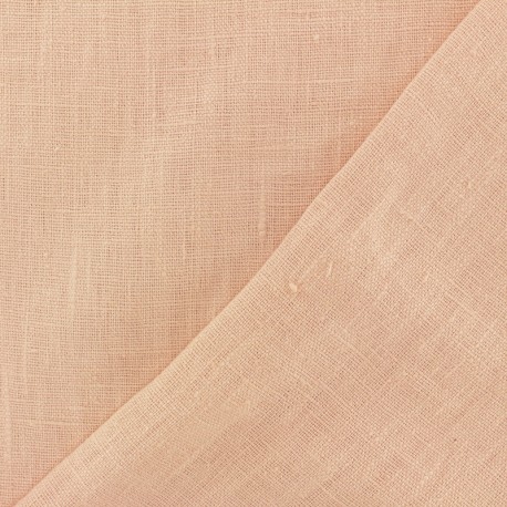 Thevenon washed Linen Fabric - dragee pink x 10cm