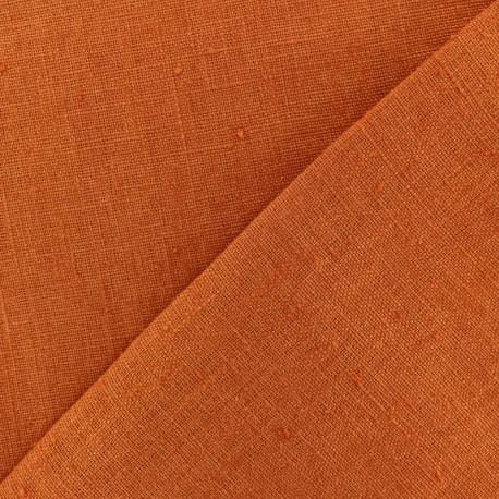 Tissu lin lavé Thevenon - jaune citron x 10cm
