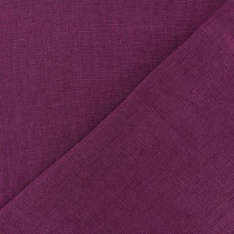 Tissu lin lavé Thevenon - citrouille x 10cm