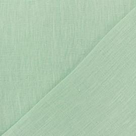 Tissu lin lavé Thevenon - bleu glacier x 10cm