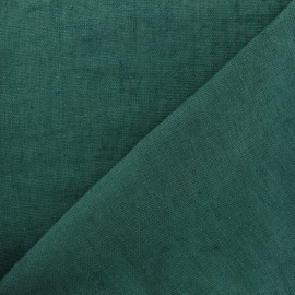 Thevenon washed Linen Fabric - Pine green x 10cm