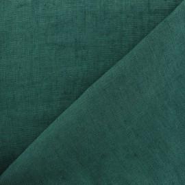 Thevenon washed Linen Fabric - Pine green x 10cm