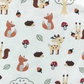 Jersey fabric - white Hazelnut x 10cm
