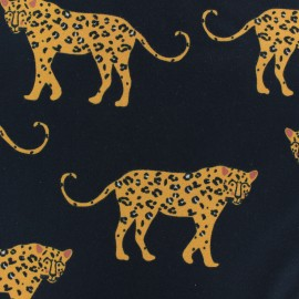 JERSEY FABRIC - white Edouard The leopard x 10CM