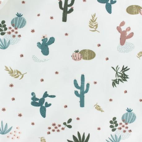 Tissu Jersey Désert de Cactus - écru x 10cm