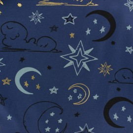 JERSEY FABRIC - grey Midnight sky x 10CM