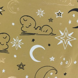 JERSEY FABRIC - yellow Midnight sky x 10CM
