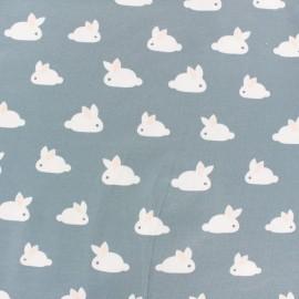 Tissu Jersey white rabbit - bleu gris x 10cm