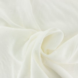 Plumetis Viscose fabric - off-white Félicie x 10cm