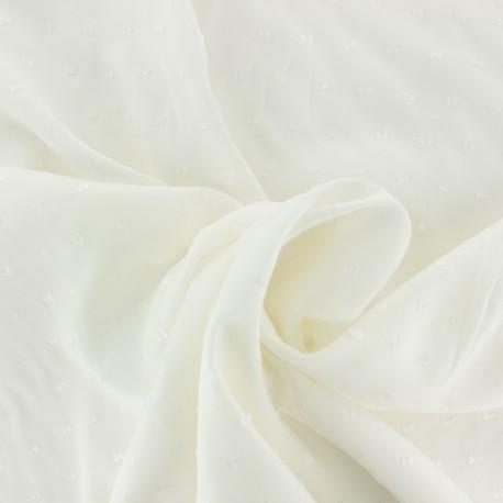 Tissu Viscose plumetis Félicie - écru x 10cm