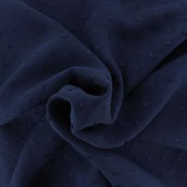 Plumetis Viscose fabric - navy blue Félicie x 10cm