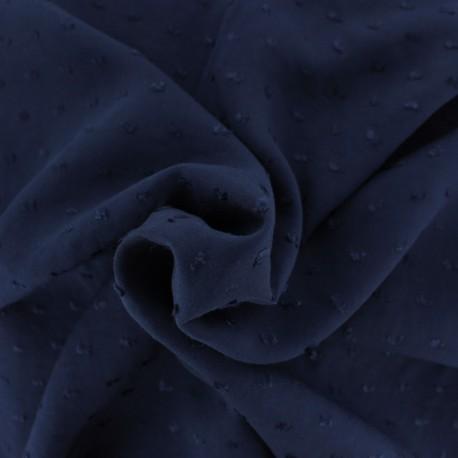 Tissu Viscose plumetis Félicie - bleu ciel x 10cm