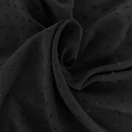 Tissu Viscose plumetis Félicie - noir x 10cm