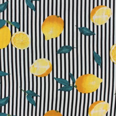 Tissu Viscose Riviera - noir et blanc x 10cm