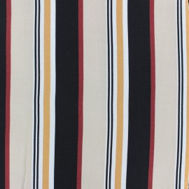 Striped Viscose fabric - Black and white French Riviera x 10cm