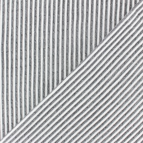 Striped Chambray Seersucker fabric - red x 10cm