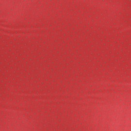 Satiny poplin Fabric - Red Tudor x 10cm