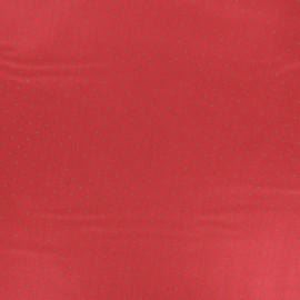 Tissu popeline satinée Tudor - Rouge x 10cm